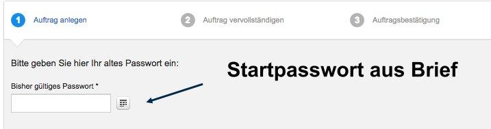 DKB Startpasswort