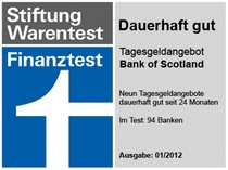 Bank of Scotland - Stiftung Warentest